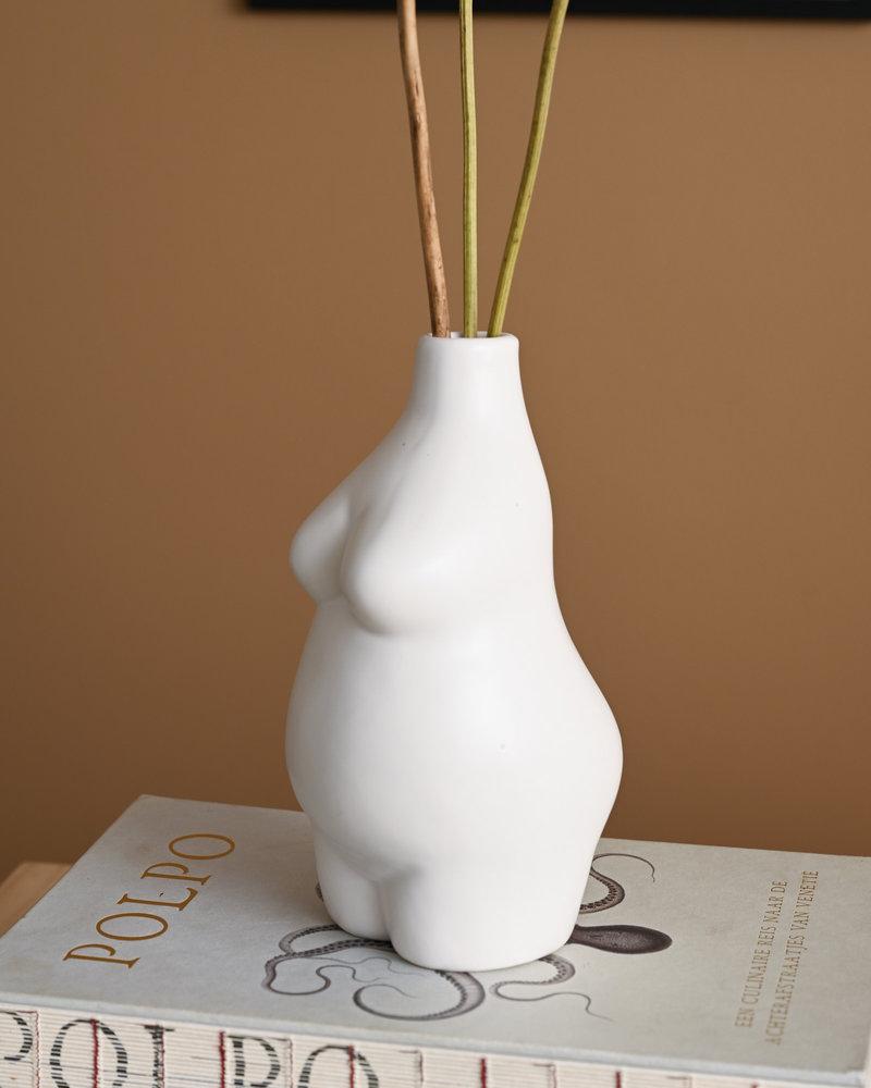 Elora Vase White Stoneware