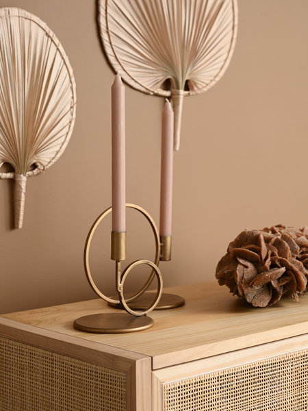 Candle Holder Circle Gold