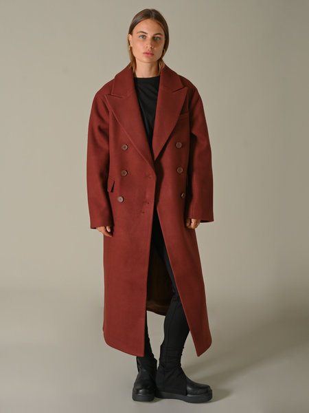 NAKD Oversized Side Slit Coat Brown
