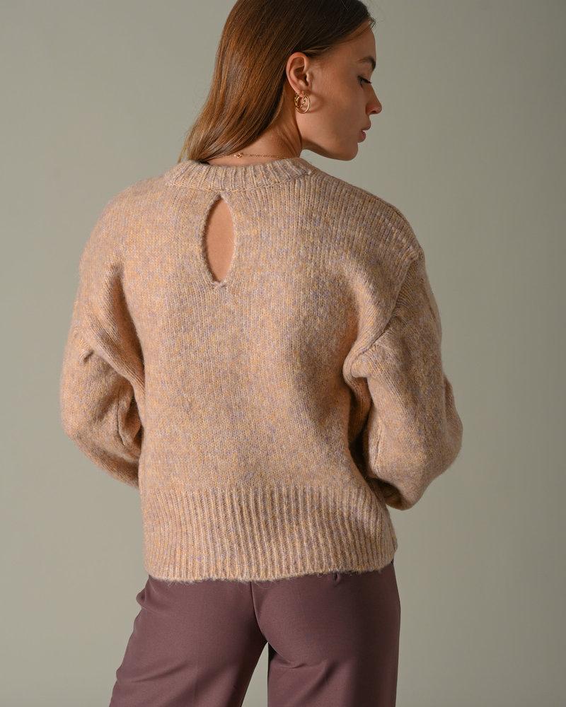 Micco Knit Pullover Orange/Blush Melange Buff Orange