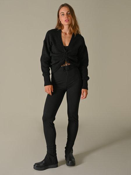 NAKD Side Slit Jersey Pants Black
