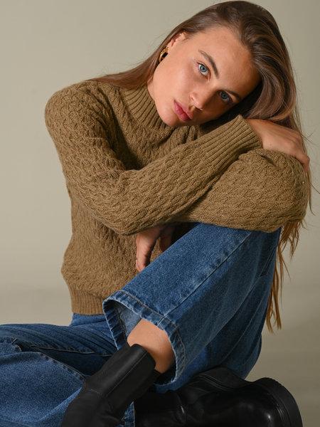 YAS Briva Knit Pullover Ermine