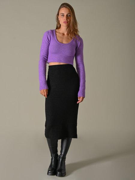 NAKD Side Slit Midi Skirt Black