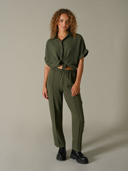 Things I Like Things I Love TILTIL Mima Pants Olive Green