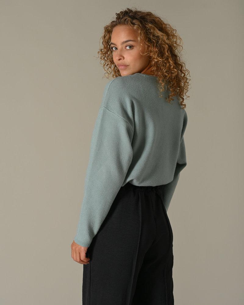 Sandrine  V Neck Pullover Blue