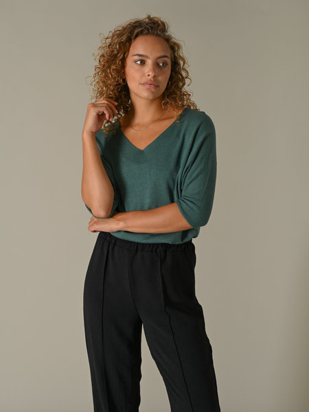 Things I Like Things I Love TIlTIL Amber Knitted Top Green