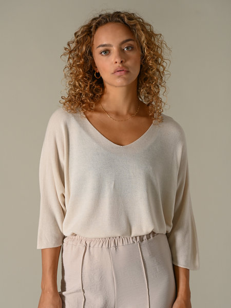 Things I Like Things I Love TIlTIL Amber Knitted Top Beige
