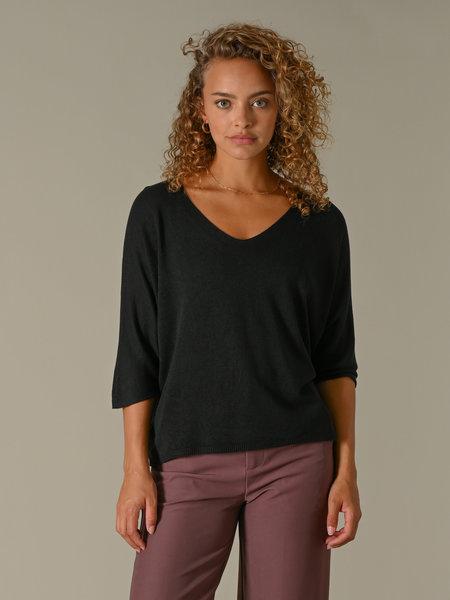 Things I Like Things I Love TIlTIL Amber Knitted Top Black