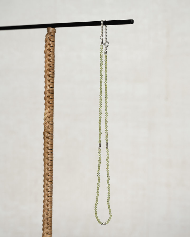 Gemstone Necklace Protecting Peridot Silver