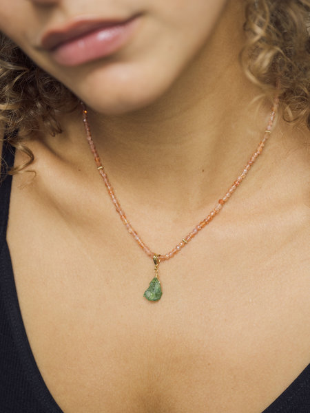 The Two Collectors Goldfilled Necklace Charm August Peridot