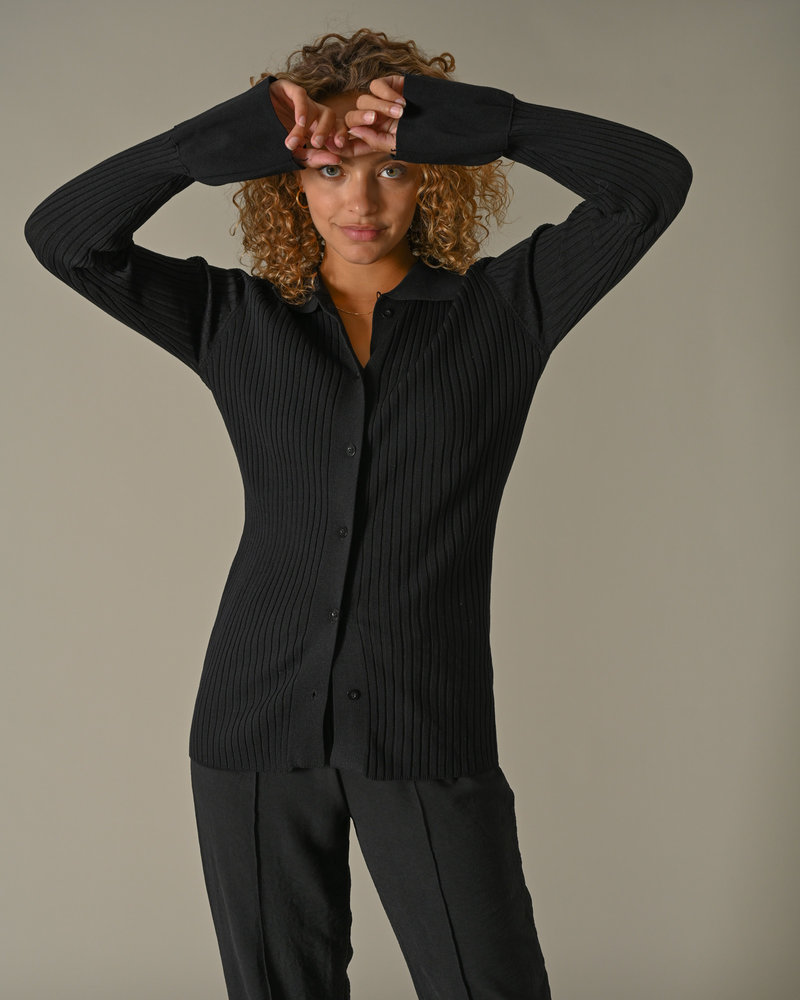 TILTIL Lynn Knitted Top Black