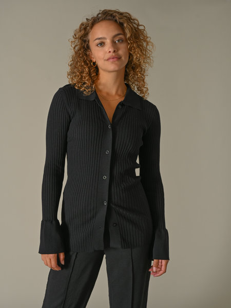 Things I Like Things I Love TILTIL Lynn Knitted Top Black