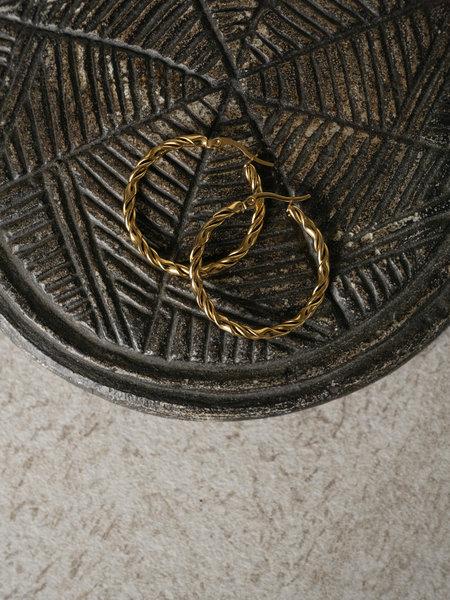 Twisty Hoop 30MM Gold