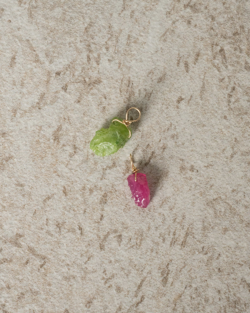 Goldfilled Earring Charm July Ruby
