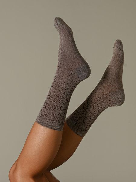 MP Denmark Tracey Socks Brown Glitter Dot