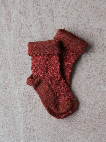MP Denmark Baby Sofie Socks Dark Brick