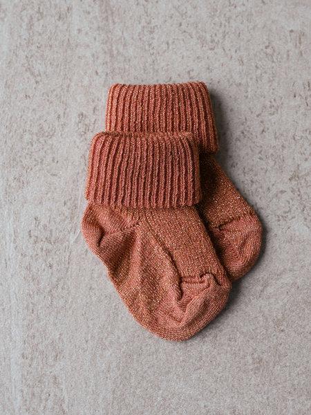MP Denmark Baby Ida Glitter Socks Canyon Rose