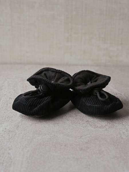Melton Baby Corduroy Booties Black
