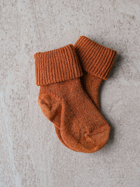 MP Denmark Baby Ida Glitter Socks Rust