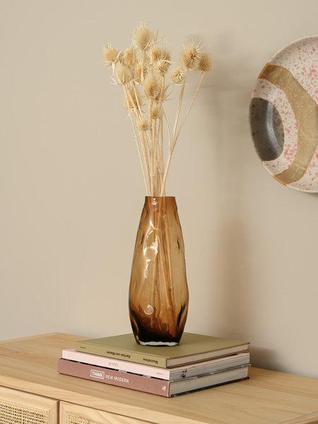 B&B Trend Company Glass Vase Rocky Amber