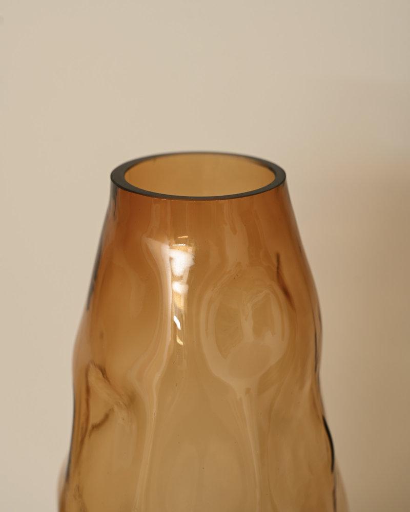 Glass Vase Rocky Amber