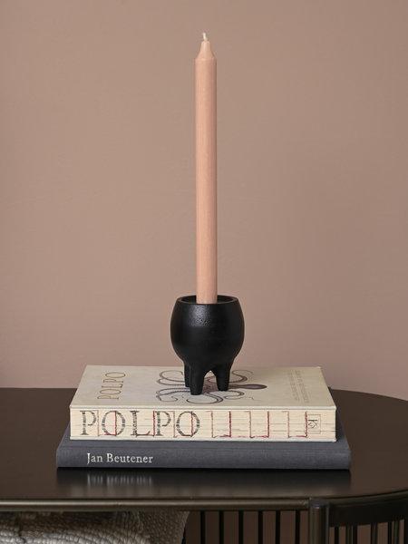 Candle Holder Leggy Black