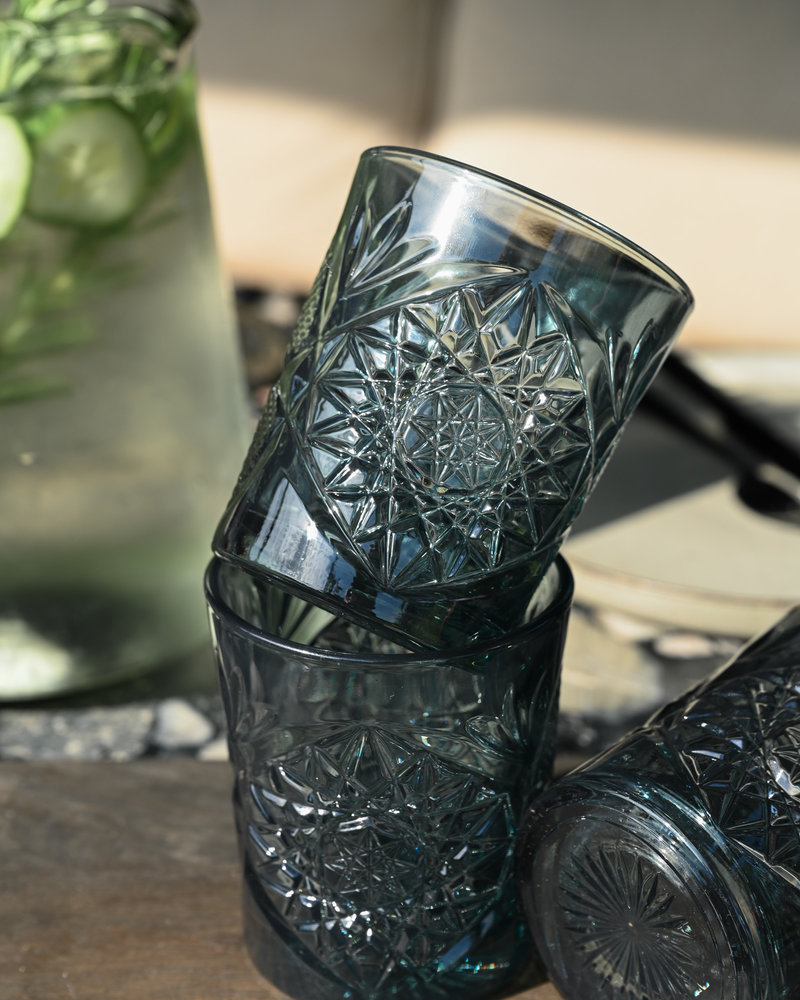 Hobstar Tumbler Glass Petrol