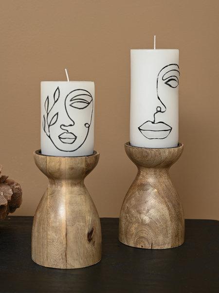 Candle Holder Diablo Wood