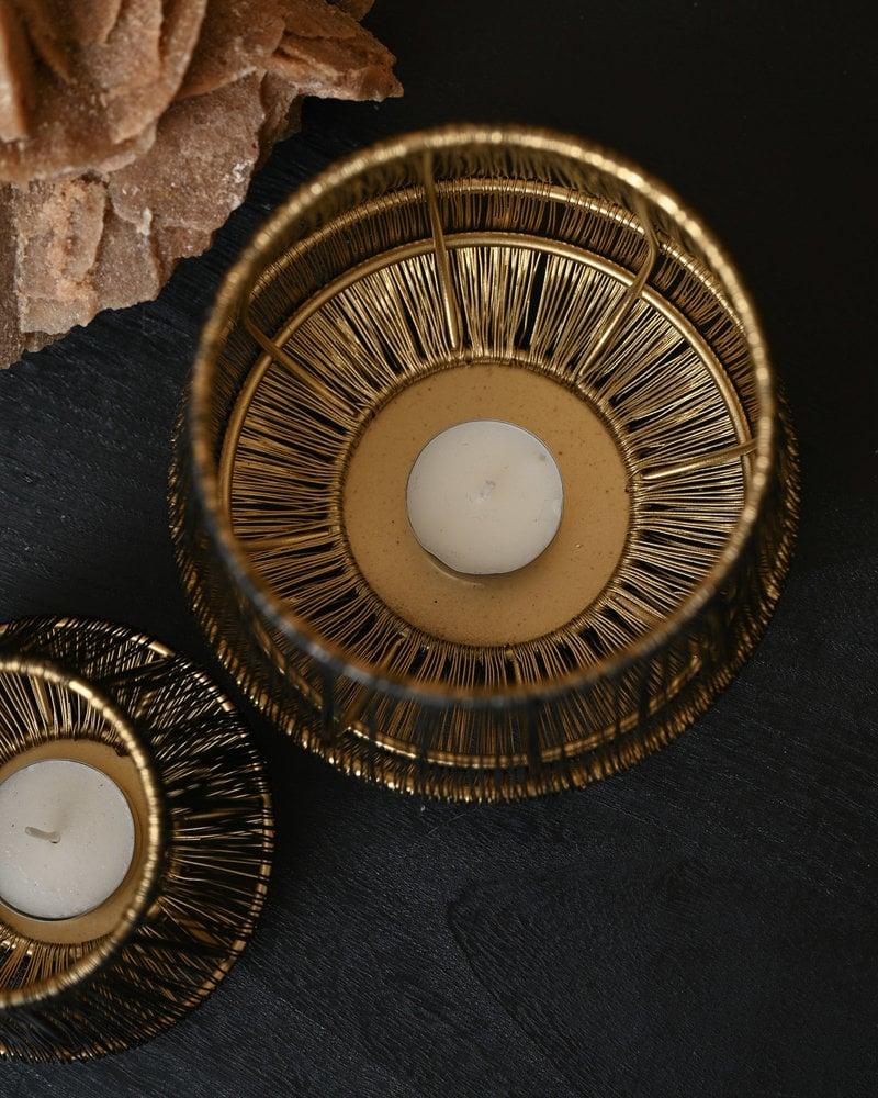 Wire Tealight Black/Gold