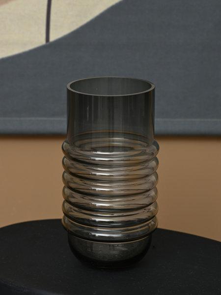 Coco maison Morgan Vase Glass Grey