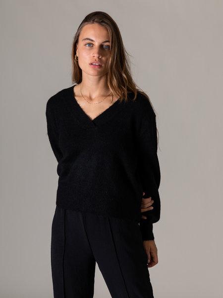 YAS Cali Knit Pullover Black