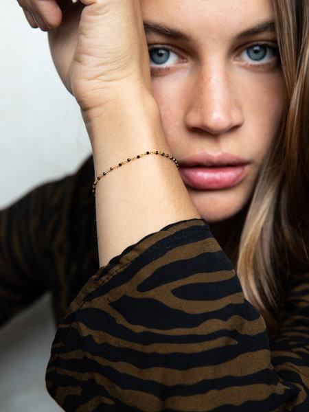 Ess Yello Gold Bracelet Black Dot Chain