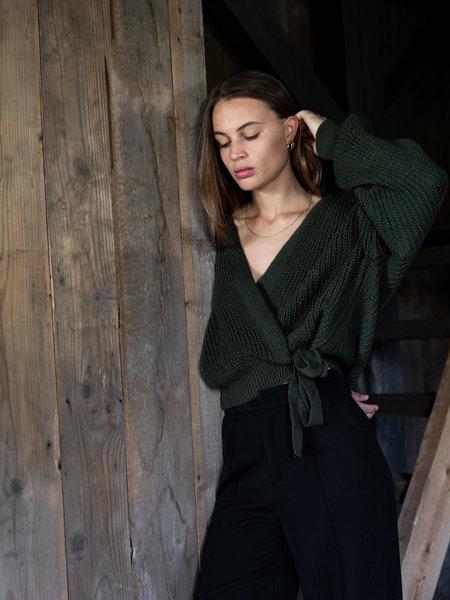 Things I Like Things I Love TILTIL Erlijn Wrap Knit Army Green