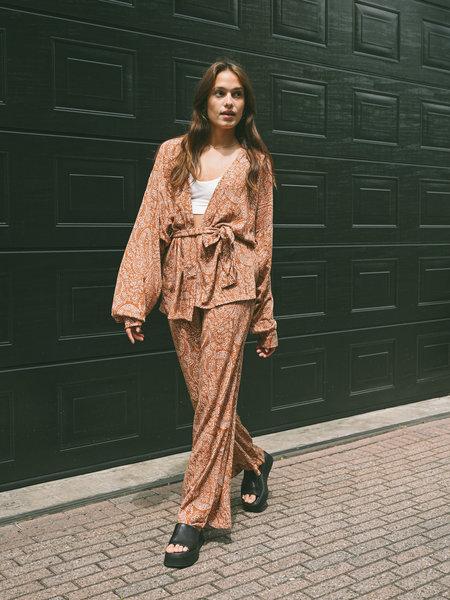 Things I Like Things I Love TILTIL Issy Kimono Paisley Rust