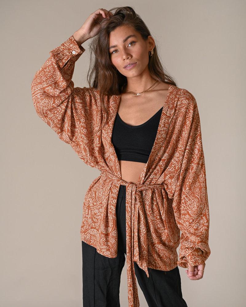TILTIL Issy Kimono Paisley Rust