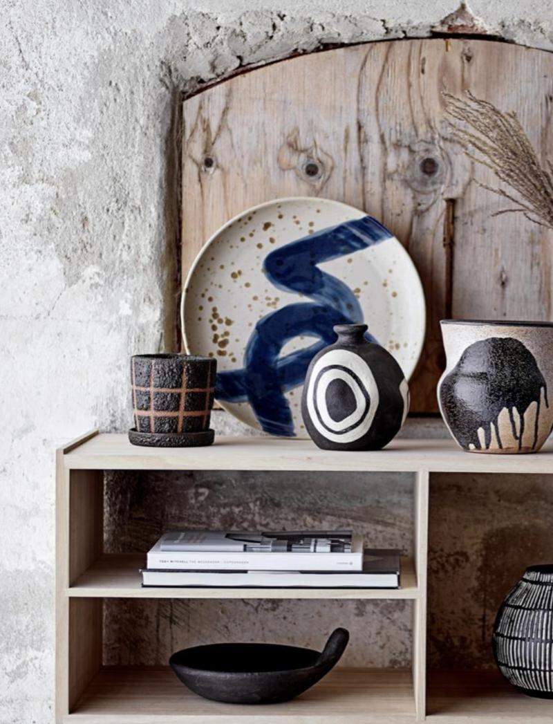 Wall Decor Ozcar Blue Stoneware