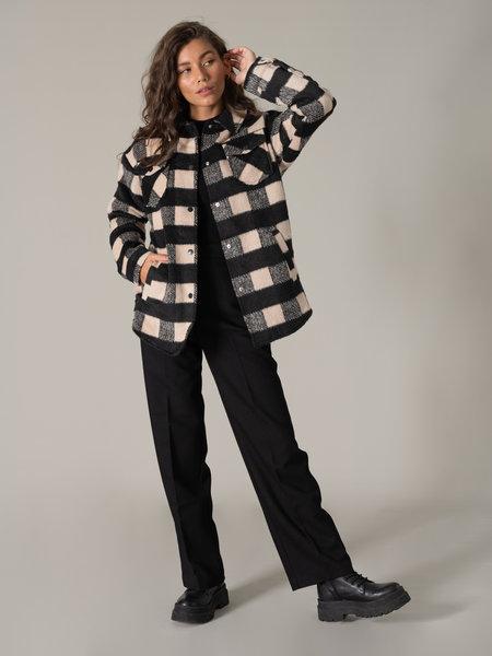 Noisy May Lulu Jacket Nomad Check Black