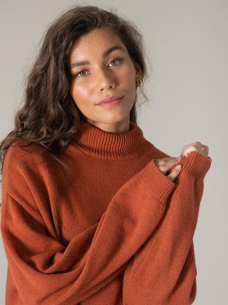 NAKD High Neck Knitted Sweater Orange
