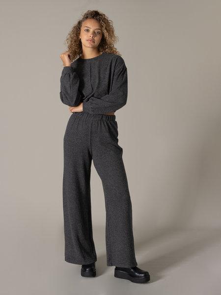 Noisy May State Wide Pants Dark Grey Melange