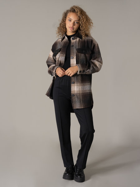 24Colours Check Jacket Brown