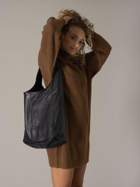 Wauwbijoux Leather Shopper Black