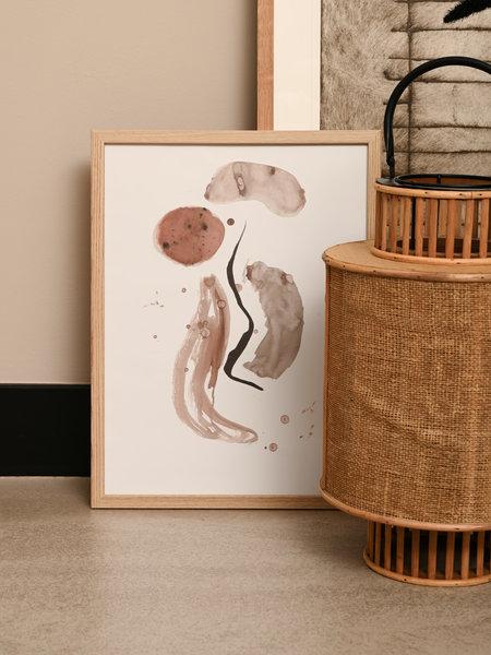 Present Time Art Print  + Wood Frame Abstract