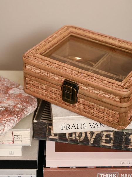 Sass & Belle Rattan Jewelry Box