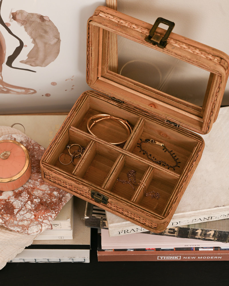 Rattan Jewelry Box