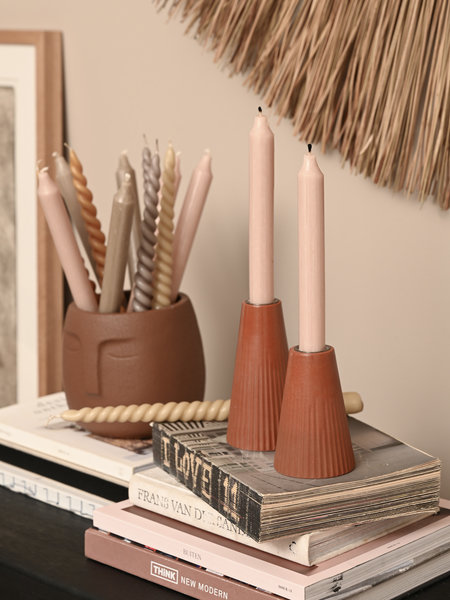 Rustik lys Candle Holder Orion Brown