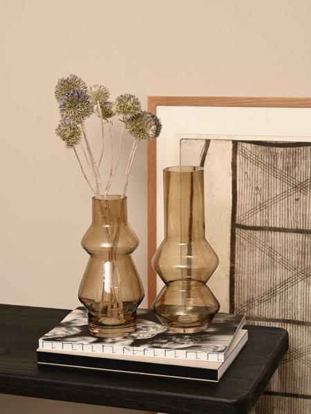 Present Time Vase Blush Glass Honey Brown