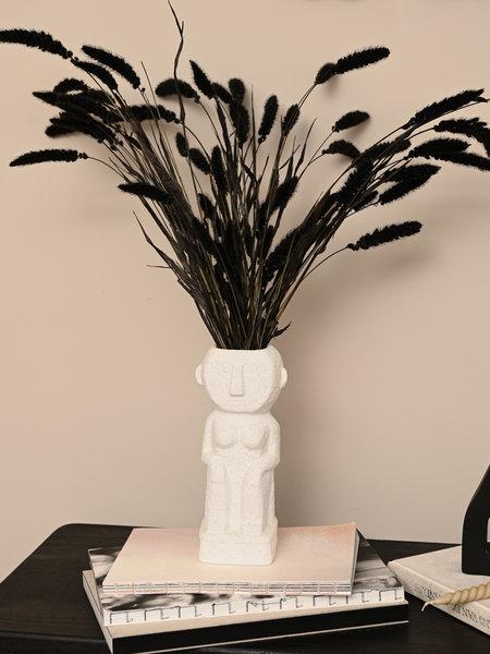 Madam Stoltz Vase Woman White Stoneware