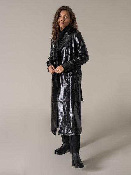 NAKD Belted Trenchcoat Black
