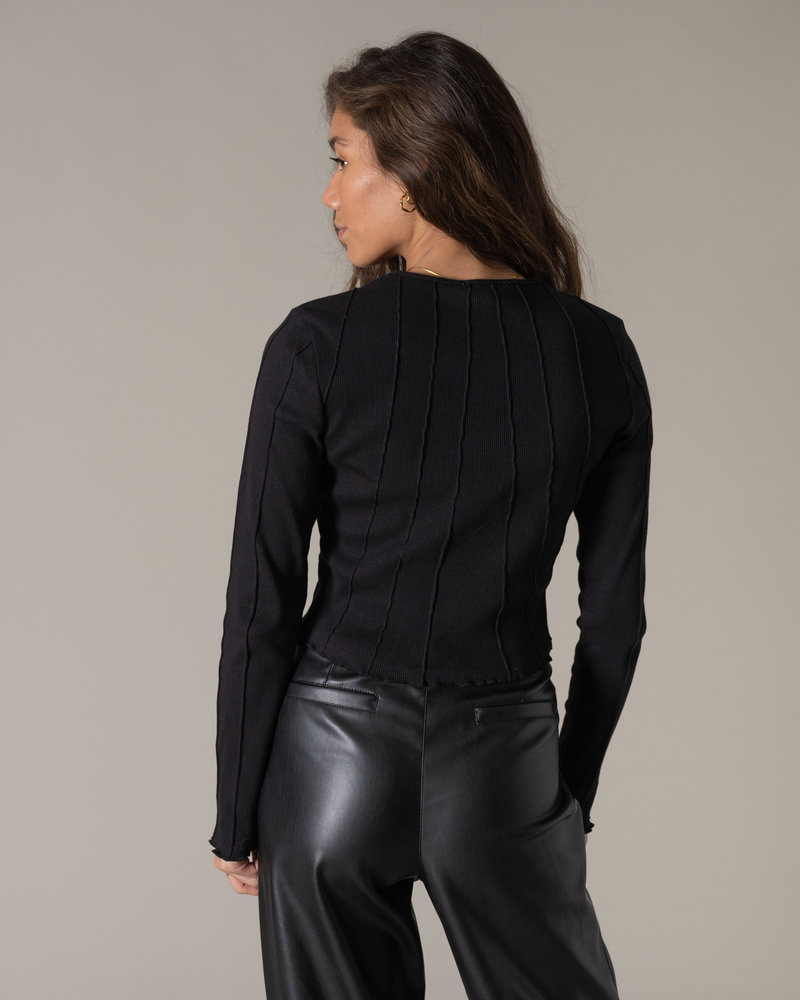 Structured Top Black