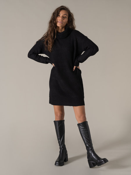 Rut & Circle Alex Knit Dress Black